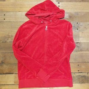 NY&Co Red Velour Sweatshirt
